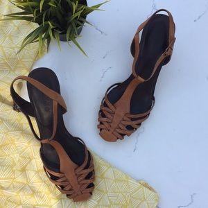 Timberland Shoes - {Timberland} 'Kadri' Leather T Strap Wedge Sandal